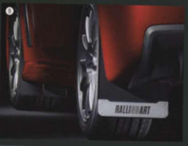『ランサーエボリューションX』 純正 CZ4A マッドフラップ(アルミ・RALLIART) パーツ 三菱純正部品 マッドガード マットガード 泥よけ LANCER オプション アクセサリー 用品