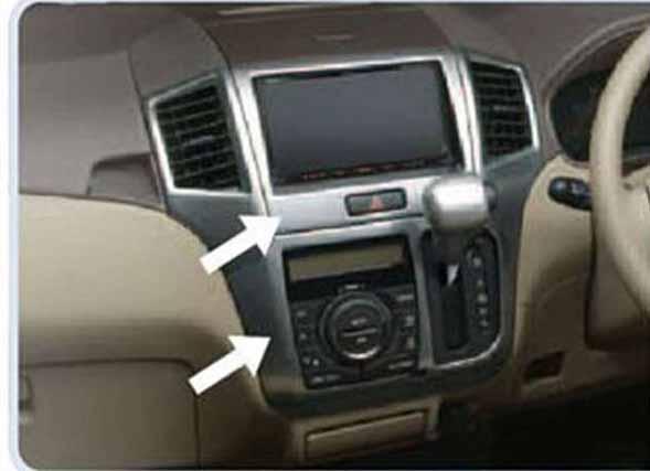 センターガーニッシュセット(オプションオーディオ用) ヘアライン調 99000-99013-F75 パレット MK21S