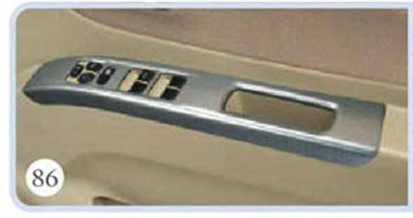 パワーウインドースイッチベゼル ヘアライン調 1台分(フロント2枚)セット パレット MK21S