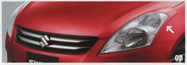 『スイフト』 純正 ZC72S ヘッドランプガーニッシュ パーツ スズキ純正部品 ヘッドライトパネル 飾り カスタム swift オプション アクセサリー 用品
