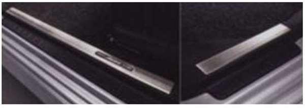 スカッフプレートカバー(ステンレス) 1台分4枚セット ムーヴ LA100S