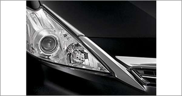 『プリウスα』 純正 ZVW41 ZVW40 ヘッドランプガーニッシュ メッキ パーツ トヨタ純正部品 ヘッドライトパネル 飾り カスタム prius オプション アクセサリー 用品