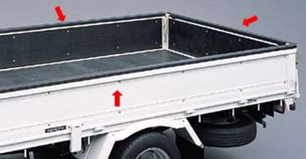 (タイプ3) ゲートプロテクター ダイナ、トヨエース (1t) KDY221 TRY220 KDY27 トヨタ純正 荷台モール アオリ dyna パーツ 部品 オプション