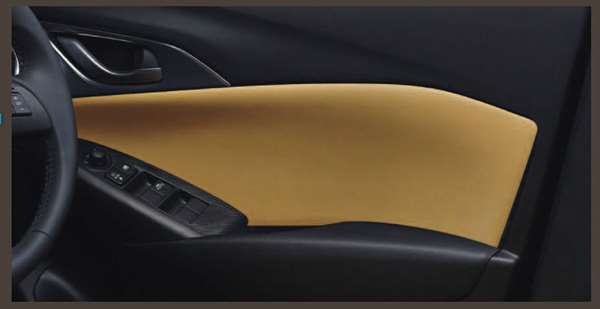 『CX-3』 純正 DK5FW DK5AW DAMD ドアトリム(本革調・タン) パーツ マツダ純正部品 本革調 皮調 レザー調 オプション アクセサリー 用品