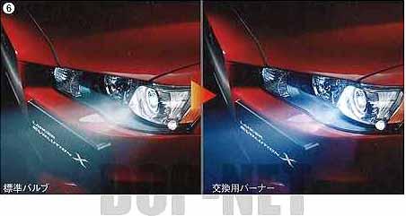 『ランサーエボリューションX』 純正 CZ4A ディスチャージヘッドライト交換用バーナー パーツ 三菱純正部品 LANCER オプション アクセサリー 用品