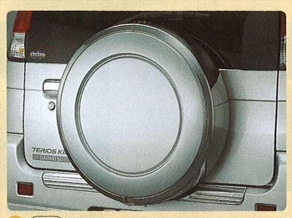『テリオス』 純正 J131 スペアタイヤケース(ハード) パーツ ダイハツ純正部品 メッキ terios オプション アクセサリー 用品