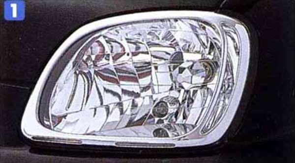ヘッドランプガーニッシュ(メッキ) RA1 RA2 スバル純正 ヘッドライトパネル ドレスアップ カスタム PLEO パーツ 部品 オプション