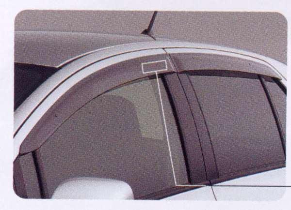 『ヴィッツ』 純正 SCP90 サイドバイザー ベーシック パーツ トヨタ純正部品 ドアバイザー 雨よけ 雨除け vitz オプション アクセサリー 用品