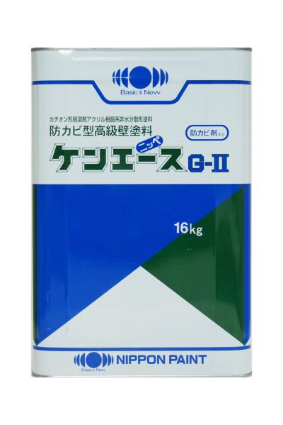 【送料無料】ケンエースG-2(艶消しブラック)屋内外部塗料:16kg<日本ペイント>