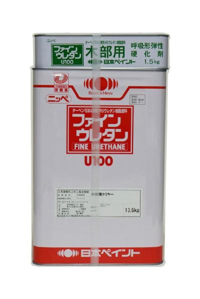 【送料無料】ファインウレタンU-100 木部用クリヤー(艶有/半艶消し/全艶消し)15kgセット<日本ペイント>