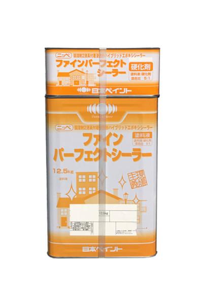 【送料無料】ファインパーフェクトシーラー(弱溶剤2液高付着浸透形ハイブリッドエポキシシーラー)透明(淡褐色透明) / ホワイト:15kgセット<日本ペイント>