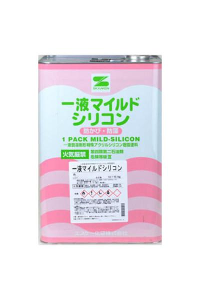 【送料無料】1液マイルドシリコン(白/ホワイト:艶有)15kg<エスケー化研>アクリルシリコン樹脂
