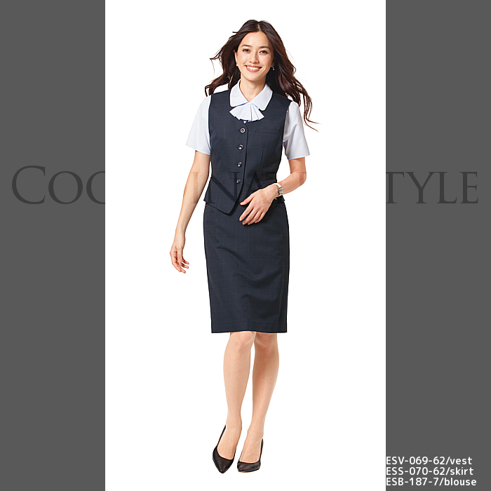 Office Clothes Las Blouse Esb 187 Short Sleeve Less Sheer Uniform