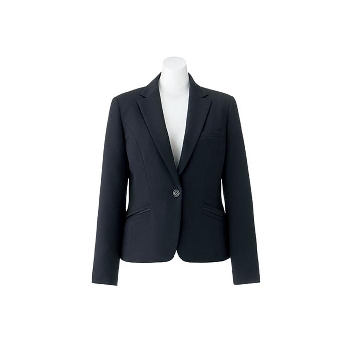 事務服 AJ0256 ジャケット 無地 ベーシック 紺 ネイビー 黒 ブラック   ユニフォーム 制服 オフィス 事務制服 ビジネス オフィスウェア 事務 ユニホーム 仕事着 事務員 オフィスユニフォーム オフィス制服