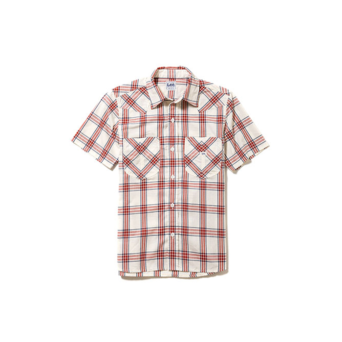 Lee ウエスタンシャツ LCS43008ユニフォーム レディース 半袖 大きいサイズ 制服 おしゃれ 作業着 フード カフェ 花屋 飲食店 ワークシャツ チェックシャツ シャツ 作業服 ウェスタンシャツ 農作業 服wP8nXk0O