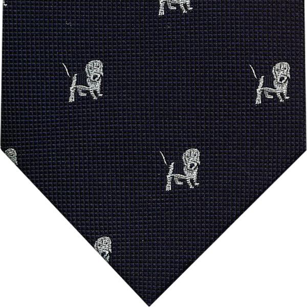 日本製 犬柄ネクタイ 感謝価格 ネクタイ 流行 動物 犬 贈り物 紺DB-501バセットハウンド ギフト シルクプレゼント