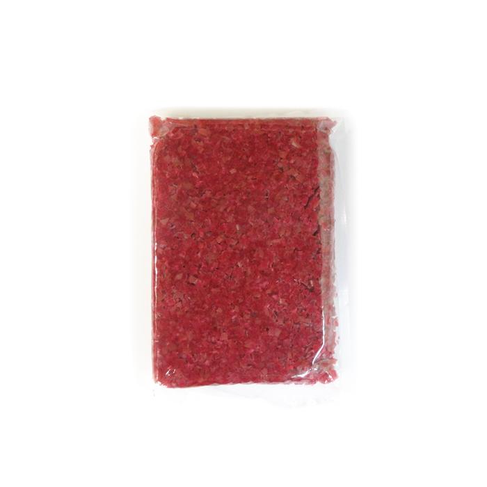 【送料無料】カリカリ刻み梅(天然着色) 《1キロ×8袋》 梅屋1ケース
