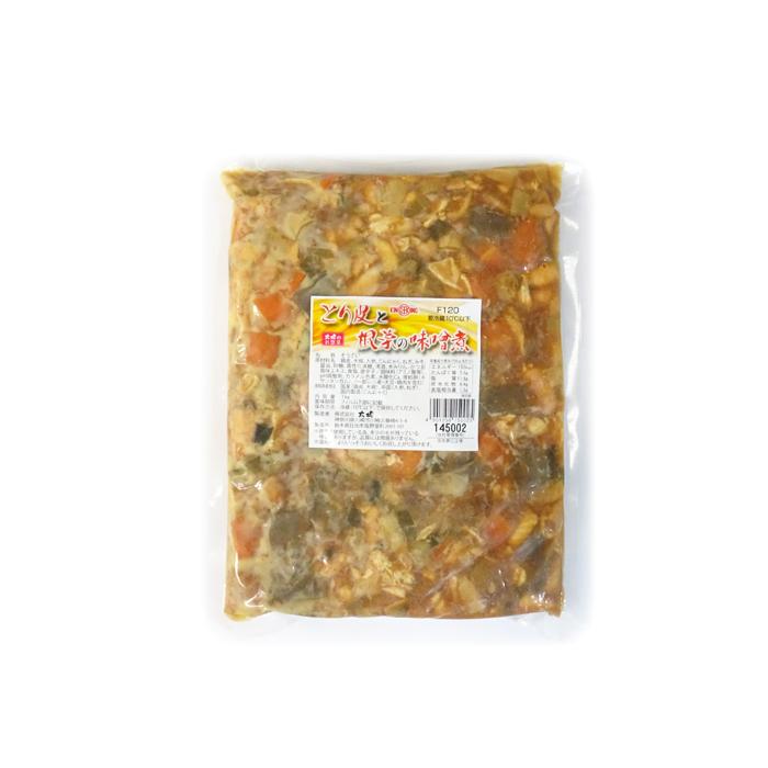 【送料無料】とり皮と根菜の味噌煮 《1キロ×12袋》 株式会社大堀6×2