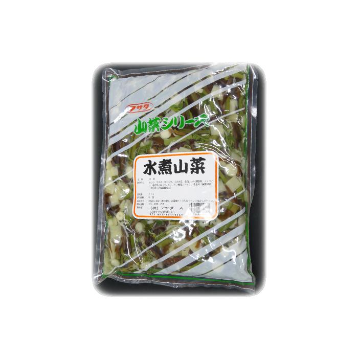 店 水煮 山菜 水煮山菜 メーカー再生品 アサダ 送料無料 1キロ×4袋