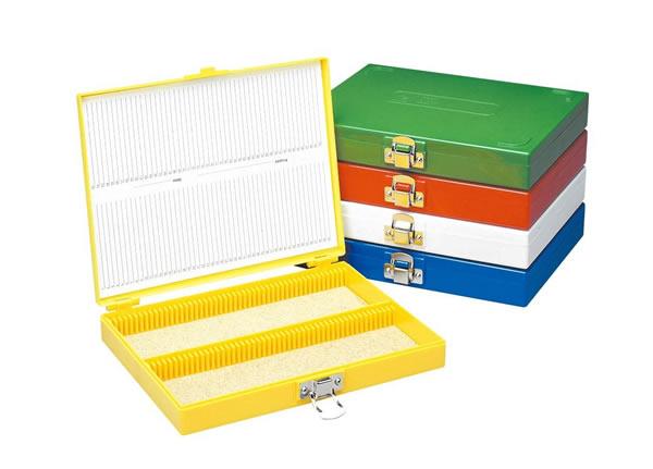 積重ね可能 特売 カラースライドボックス100枚用 448-3 赤 76×26mmスライド用 モデル着用&注目アイテム