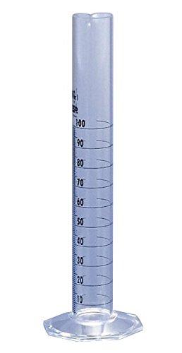 胴外径×全高: 32φ×249mm ケミカルメスシリンダN 印刷目盛 N-100ml 春の新作続々 人気激安