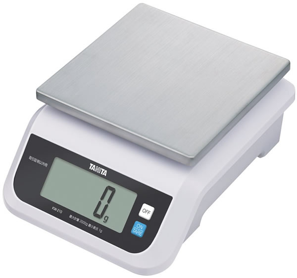 タニタ デジタルスケール(取引証明以外用) 2kg ホワイト KW-210-WH