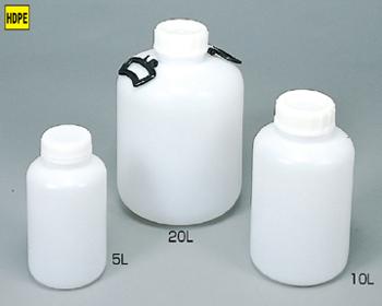 胴径×全高:145φ×300mm 新登場 安値 ポリ広口中型瓶 PM-3W 3L