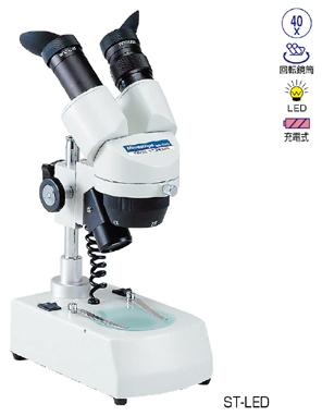 ケニス双眼実体顕微鏡 ST-LED-PC 充電式 LED光源 ケース付