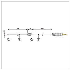 ステンレス保護管センサ TR-1220