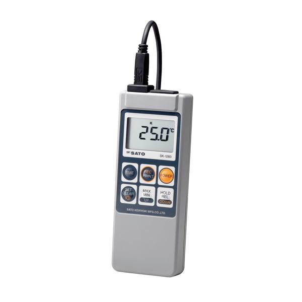 防水型デジタル温度計 SK-1260(本体のみ)サーミスタ-30.0~199.9℃ 熱電対-99.9~1250℃ 66×25×175mm 約200g