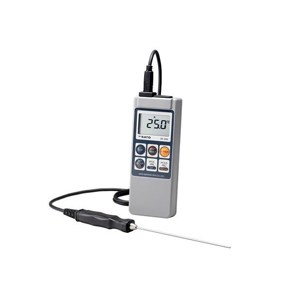 防水型デジタル温度計 SK-1260 サーミスタ 熱電対 66×25×175mm 約200g