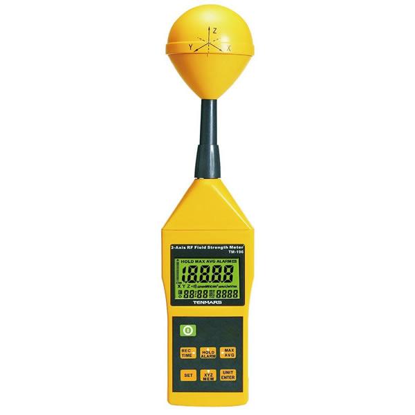電磁界強度計 TM-196 3軸センサ 高周波電磁波 マイクロ波測定 80×80×370mm