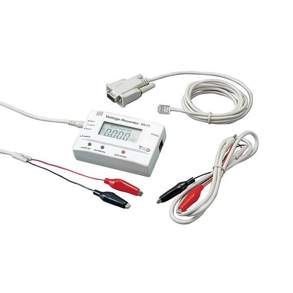 電圧データロガー VR-71 2チャンネル 88×24×55mm 約93g