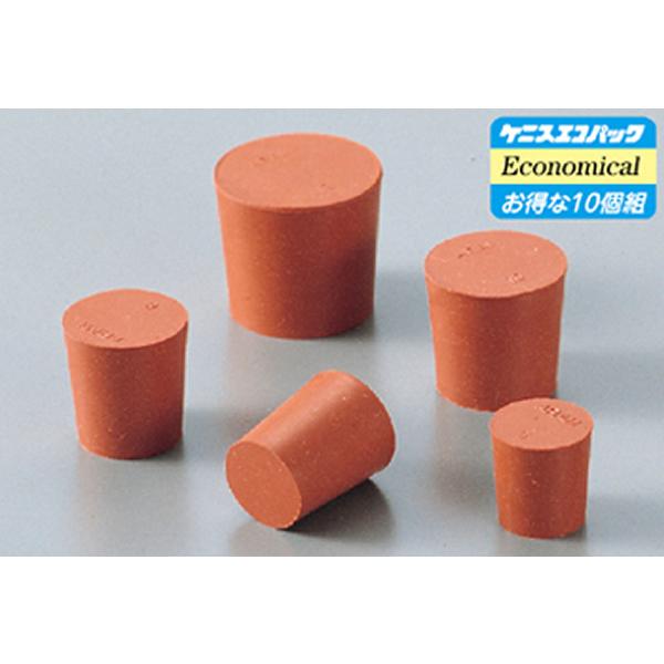 酸に強い天然ゴム製の栓 赤ゴム栓 No.10 中古 32×27.5×30.5mm 10個組 気質アップ
