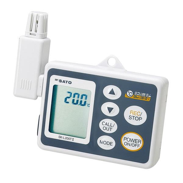 記憶計 SK-L200T-1 データロガー 温度センサ一 測定範囲-10.0~60.0℃ USB接続 最大8100データ