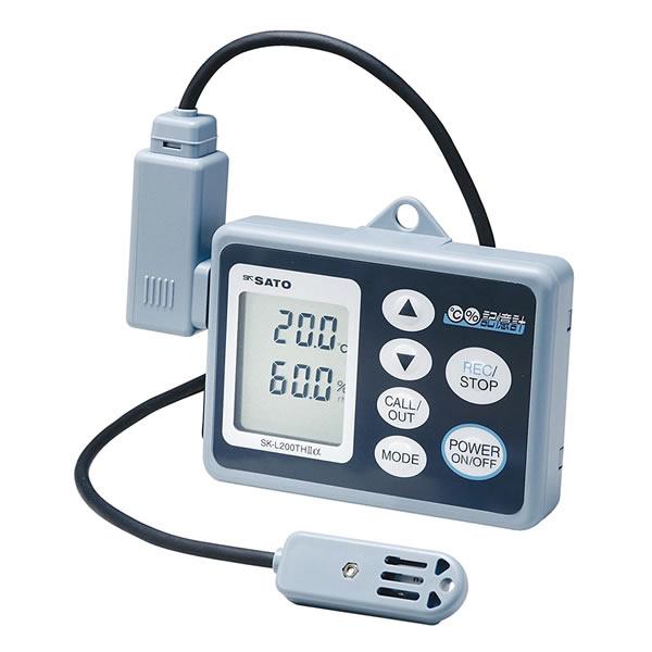 記憶計 SK-L200THα-2 データロガー 温湿度センサ一 測定範囲-10.0~60.0℃/20.0%~98% USB接続 最大8100データ