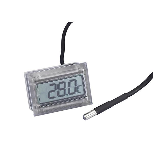 パネルカットで組み込み可能な温度計モジュール 防水型温度モジュール AD-5657 IP65 OUTLET SALE 約35g 超人気 専門店 48×26×34mm -40~110℃ サーミスタ