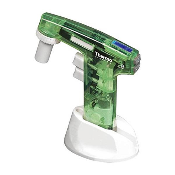 電動ピペッター S1-9541 透明緑 液晶画面 使用可能ピペット1~100mL