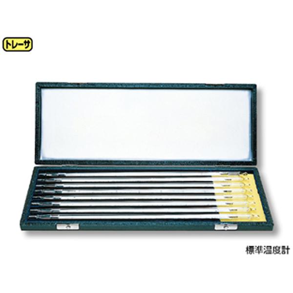 標準温度計 棒状 8本セット(箱入)
