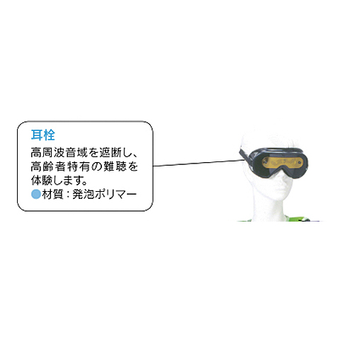ニチイ 高齢者体験用 耳栓50ペア 単品 56420 追加購入用