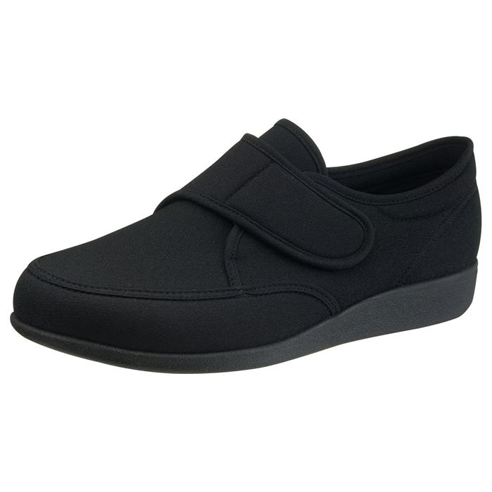 アサヒシューズ 快歩主義 M021 ブラックストレッチ 男性靴 健康シューズ
