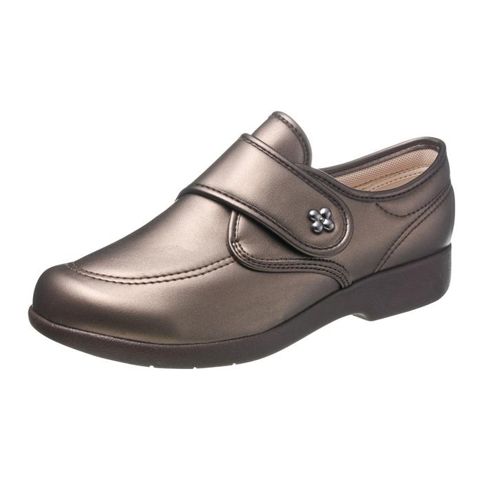アサヒシューズ 快歩主義 L118 ブロンズスムース 女性靴 健康シューズ