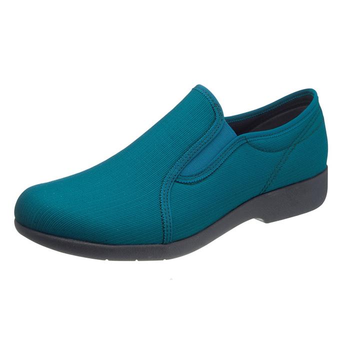 アサヒシューズ 快歩主義 L134 グリーン 女性靴 健康シューズ