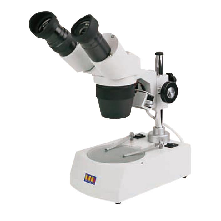 スタンダードなスペックを備えた双眼実体顕微鏡 双眼実体顕微鏡 新作入荷 AP-RLED 格納箱付 格安店 40倍