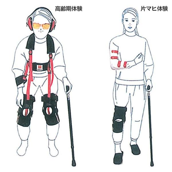 ヤガミ 高齢者擬似体験用 高齢期擬似体験システム シニアポーズ(フルセット)5697900