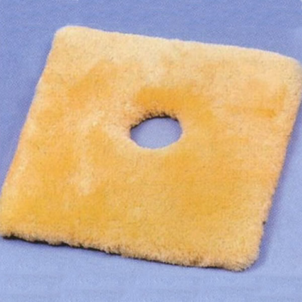 医療 看護用 シープスキン100% 卓越 角座 薄型 穴ありタイプ ウィズ製 床ずれ予防 ナーシングラッグ 卓越 NR-21