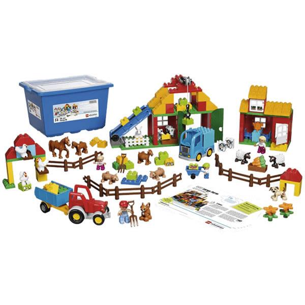 LEGO レゴ duplo デュプロ たのしい農場セット 45007 ごっこ遊び 納屋 トラクター 動物 とうもろこし にんじん V95-5287