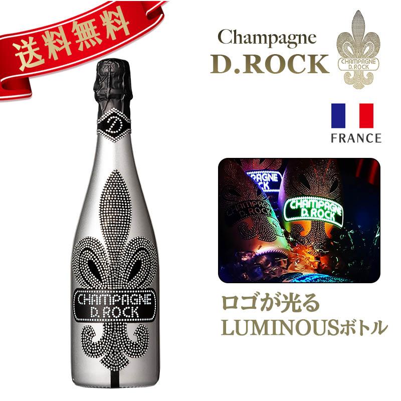 シャンパン ディーロック CHAMPAGNE D.ROCK BLANC DE BLANCS LUMINOUS ロゴ部分光る ブラン ド ブラン ルミナス 750ml シャンパン DROCK 高級シャンパン 発泡酒 シャンパーニュ 洋酒 母の日 父の日 ギフト プレゼント 内祝い 結婚祝い 新築祝い PierreGarden