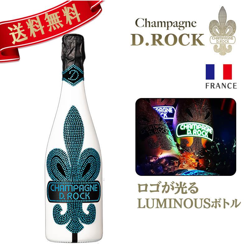 ディーロックシャンパン グラシア ルミナス CHAMPAGNE D.ROCK GLACIER LUMINOUS シャンパン DROCK ロゴが光る 750ml 発泡酒 シャンパン シャンパーニュ 洋酒 ギフト  ギフト プレゼント 内祝い 結婚祝い 誕生日 新築祝い PierreGarden