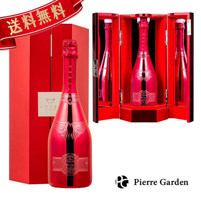 エンジェル シャンパン ヴィンテージ 2005 レッド 750ml ANGEL CHAMPAGNE Vintage2005 Red 専用 箱付き ギフトボックス 発泡酒 シャンパーニュ 洋酒 母の日 父の日 ギフト プレゼント 内祝い 結婚祝い 誕生日 新築祝い PierreGarden